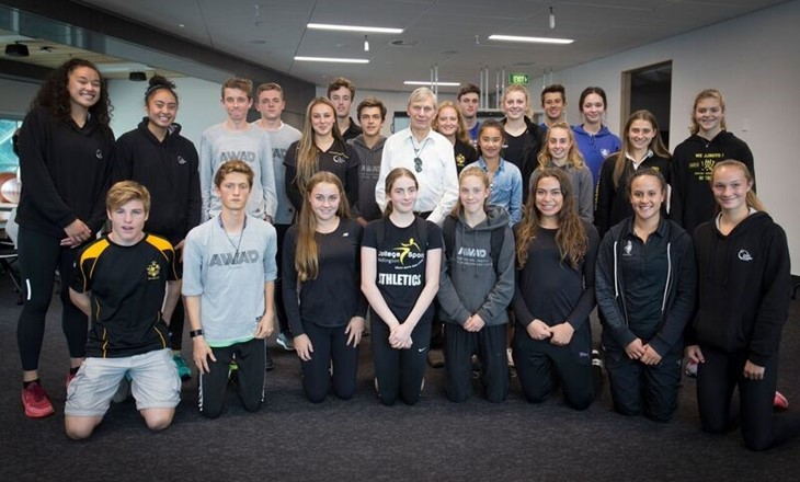 Group of Wellington Athletes from Sport Wgtn Performance Hub