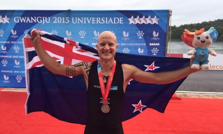 Toby wins silver medal at World University Games